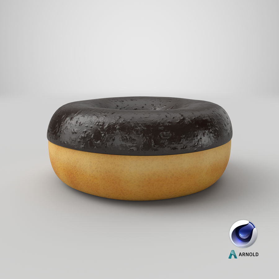 Ring Donut Chocolate royalty-free 3d model - Preview no. 27