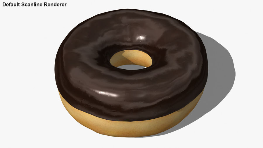 Ring Donut Chocolate royalty-free 3d model - Preview no. 24