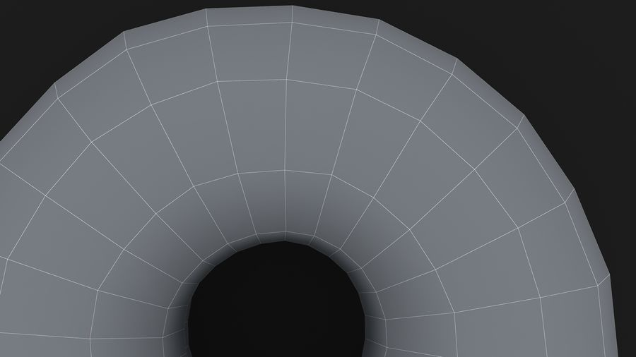 Ring Donut Chocolate royalty-free 3d model - Preview no. 20