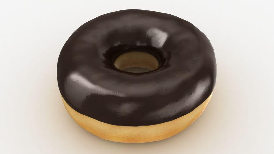 Ring Donut Chocolate royalty-free 3d model - Preview no. 3