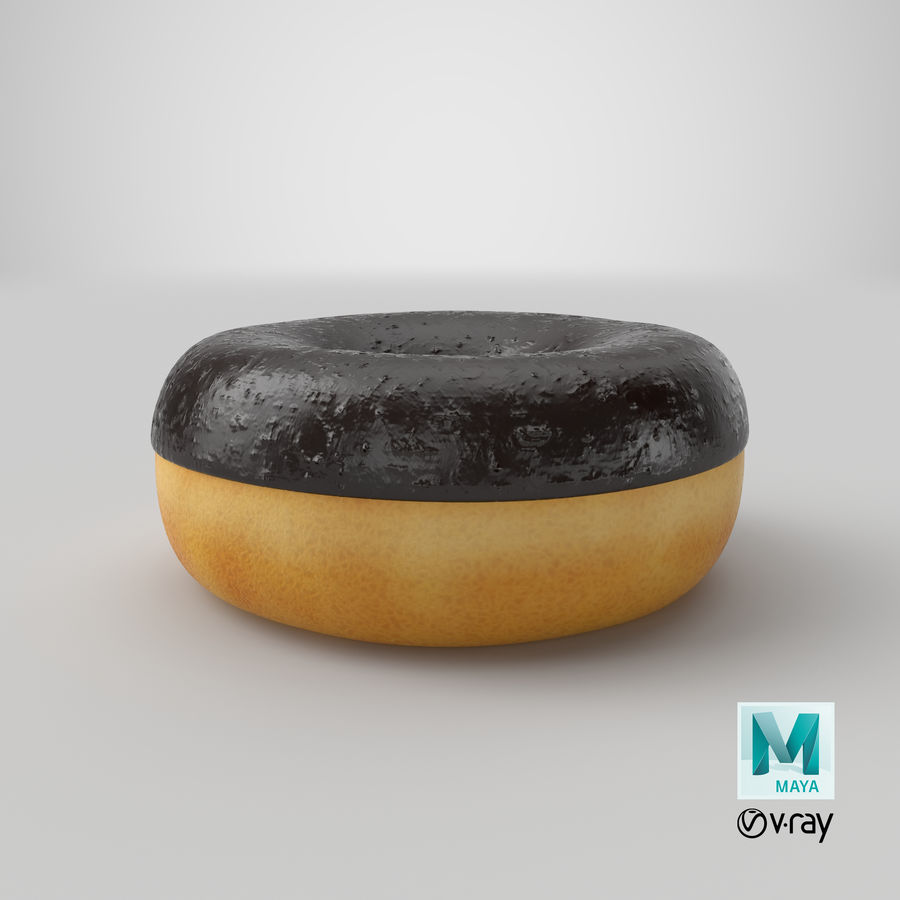 Ring Donut Chocolate royalty-free 3d model - Preview no. 33