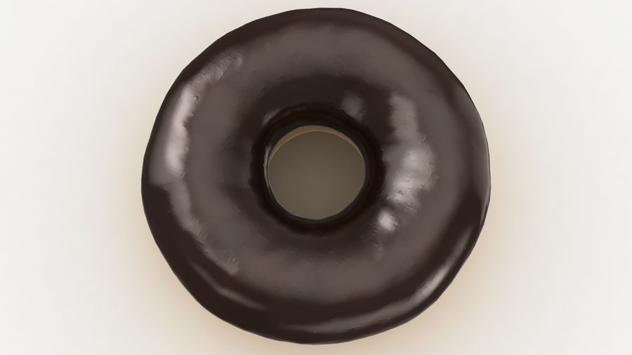 Ring Donut Chocolate royalty-free 3d model - Preview no. 8