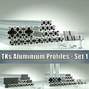 TKs Aluminium Profiles - Set #1 3d model