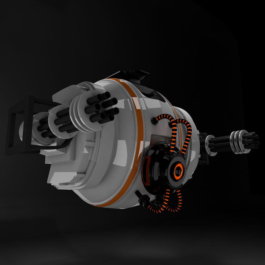 Sci fi collection (sci fi car, sci fi drone & sci fi corridor) royalty-free 3d model - Preview no. 3