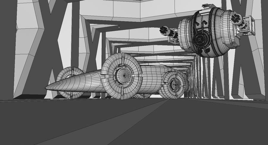 Sci fi collection (sci fi car, sci fi drone & sci fi corridor) royalty-free 3d model - Preview no. 11