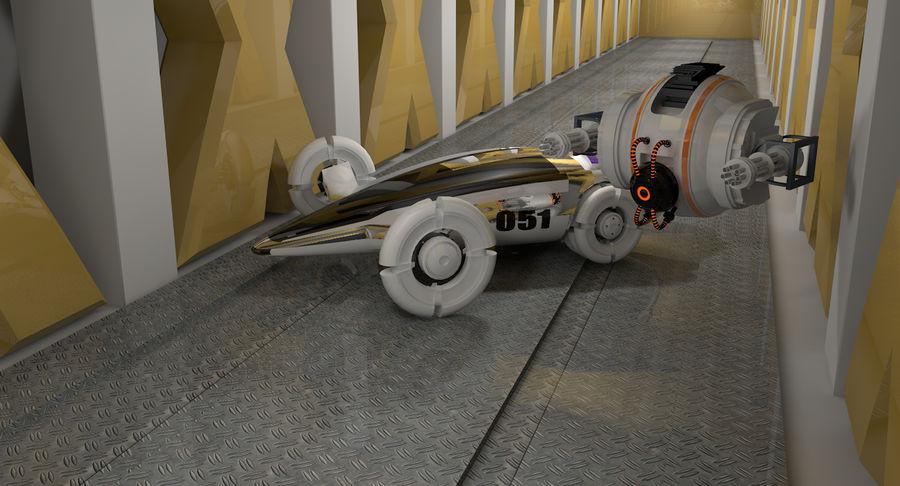 Sci fi collection (sci fi car, sci fi drone & sci fi corridor) royalty-free 3d model - Preview no. 6