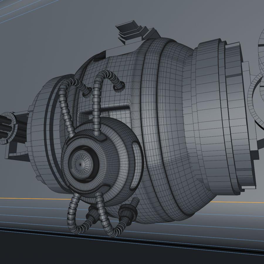 Sci fi collection (sci fi car, sci fi drone & sci fi corridor) royalty-free 3d model - Preview no. 17