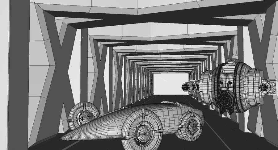 Sci fi collection (sci fi car, sci fi drone & sci fi corridor) royalty-free 3d model - Preview no. 10