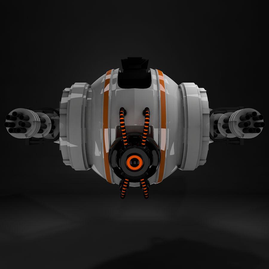 Sci fi collection (sci fi car, sci fi drone & sci fi corridor) royalty-free 3d model - Preview no. 8