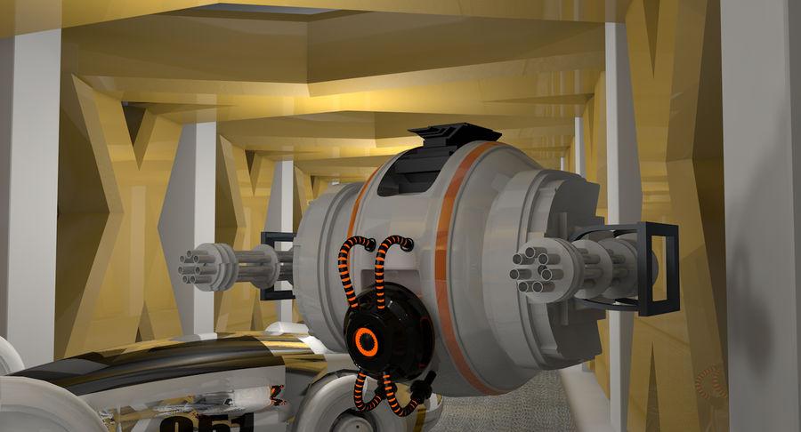 Sci fi collection (sci fi car, sci fi drone & sci fi corridor) royalty-free 3d model - Preview no. 1