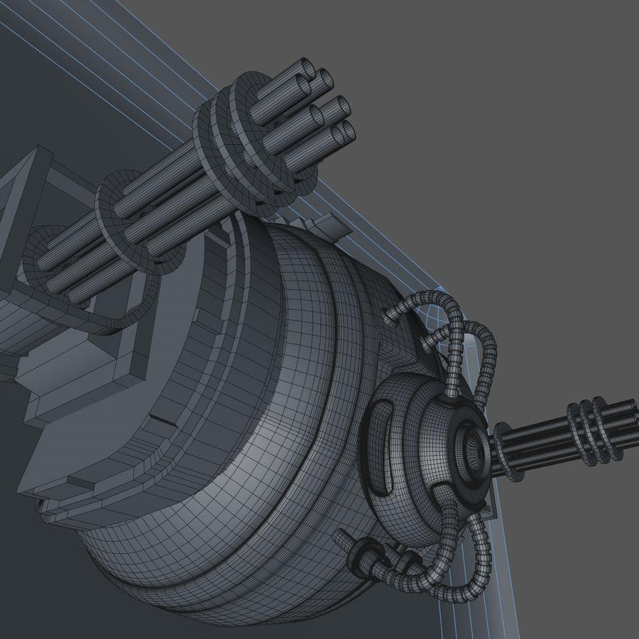Sci fi collection (sci fi car, sci fi drone & sci fi corridor) royalty-free 3d model - Preview no. 18