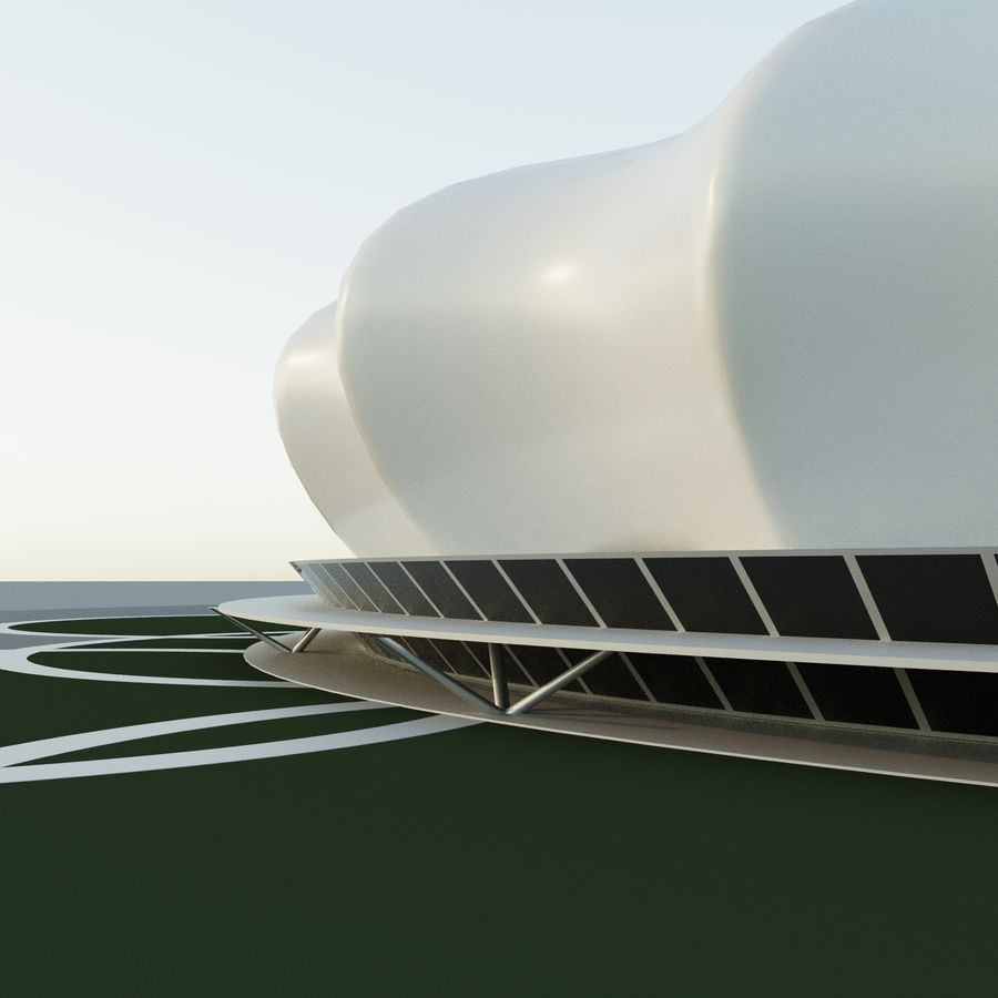 Stadium 10 royalty-free 3d model - Preview no. 5