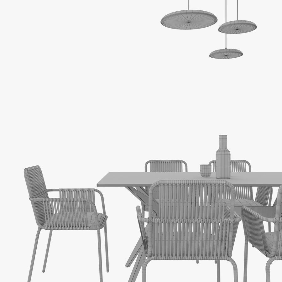 Set da pranzo royalty-free 3d model - Preview no. 6
