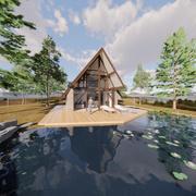 sjöhus 3d model