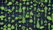 25低ポリ木植物の茂み 3d model
