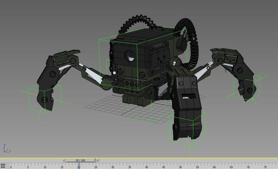 Spy bot walker Modèles 3D royalty-free 3d model - Preview no. 7