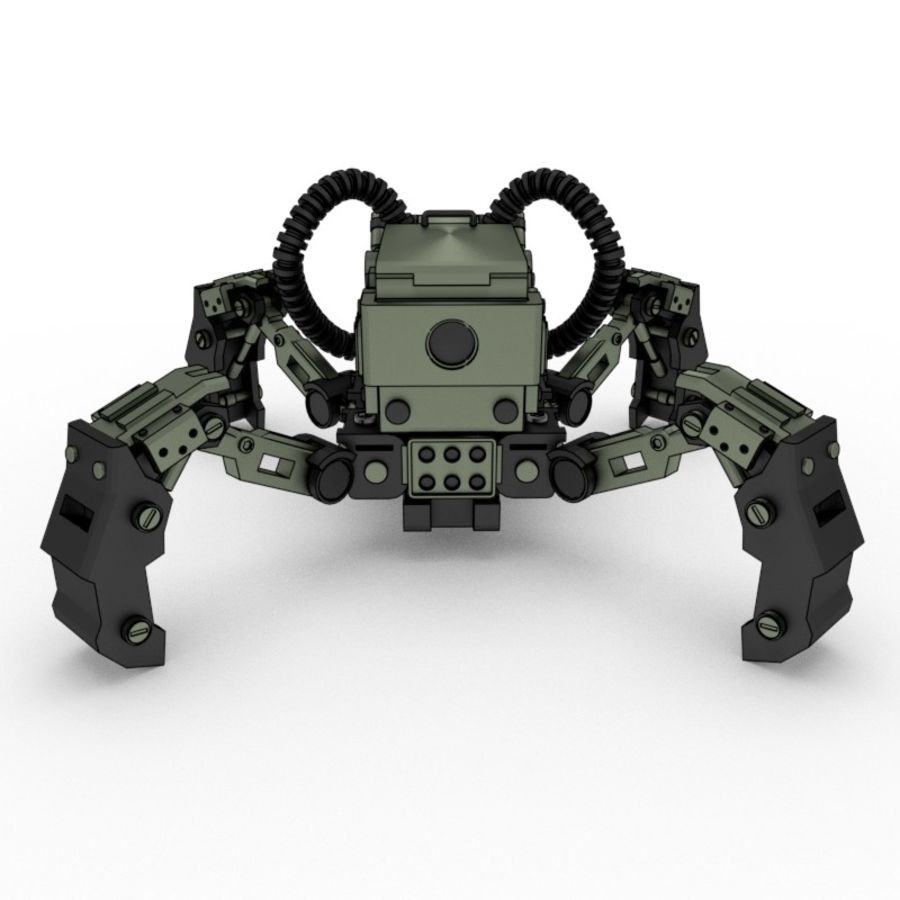 Spy bot walker Modèles 3D royalty-free 3d model - Preview no. 6