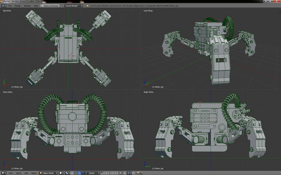 Modele 3D botów szpiegowskich royalty-free 3d model - Preview no. 7