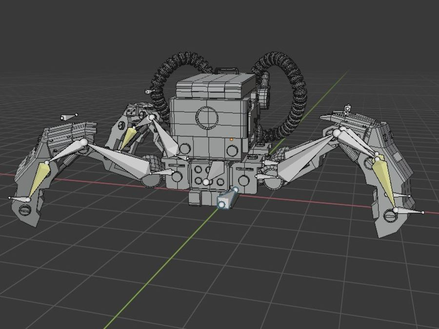 Spy bot walker Modèles 3D royalty-free 3d model - Preview no. 8