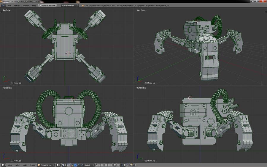 Spy bot walker Modèles 3D royalty-free 3d model - Preview no. 10