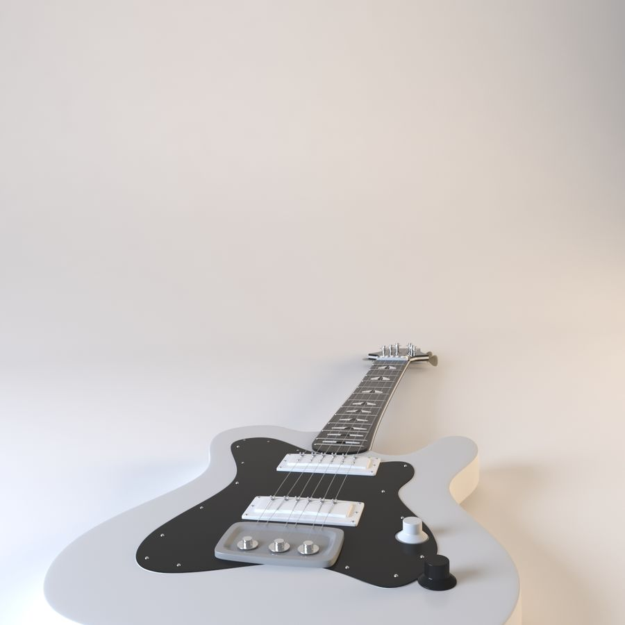 Electirc Guitar royalty-free 3d model - Preview no. 5