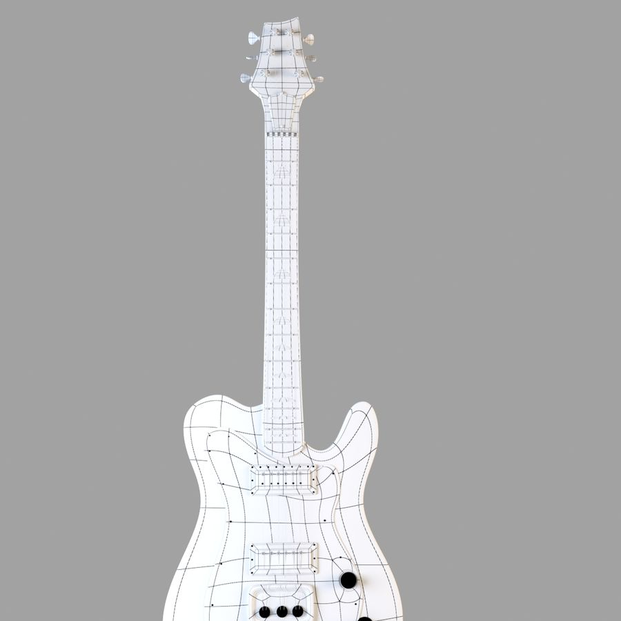 Electirc Guitar royalty-free 3d model - Preview no. 2