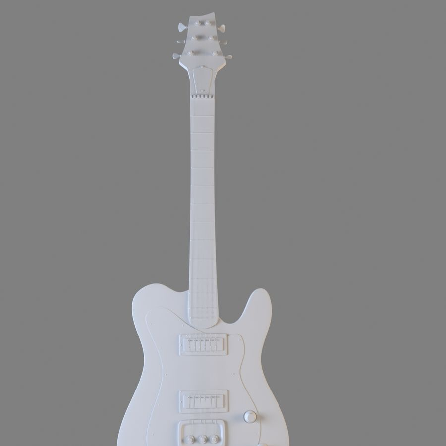Electirc Guitar royalty-free 3d model - Preview no. 3