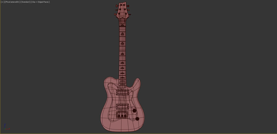 Electirc Guitar royalty-free 3d model - Preview no. 7