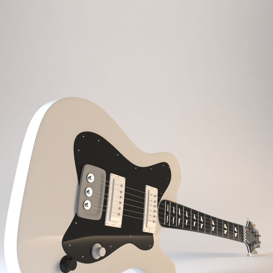 Electirc Guitar royalty-free 3d model - Preview no. 6