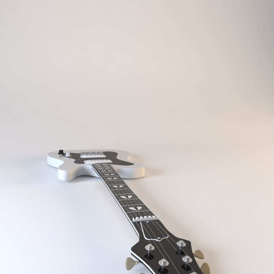 Electirc Guitar royalty-free 3d model - Preview no. 4
