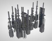 raffinerie de pétrole 3d model