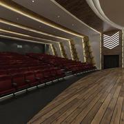 Concepto de sala de teatro modelo 3d