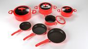 Cookware pots and pans set 3d model