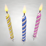 Birthday Candles 3d model