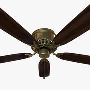 Ceiling Fan - Brass 3d model