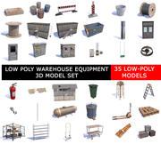 LOW POLY Складская техника 3D Модель 3d model