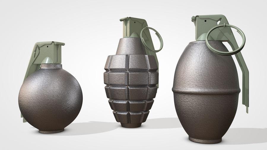 Grenade royalty-free 3d model - Preview no. 3