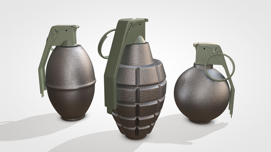 Grenade royalty-free 3d model - Preview no. 10
