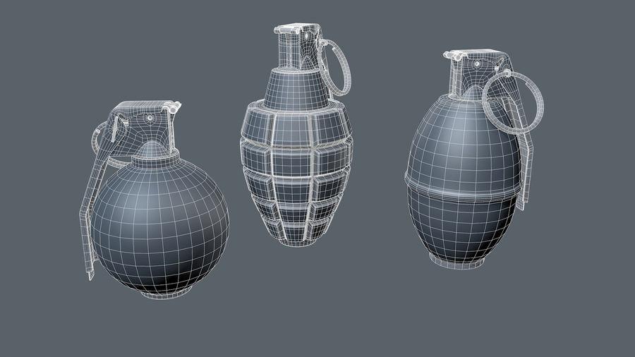 Grenade royalty-free 3d model - Preview no. 6