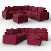 Savesto Charcoal Sectional 3d model