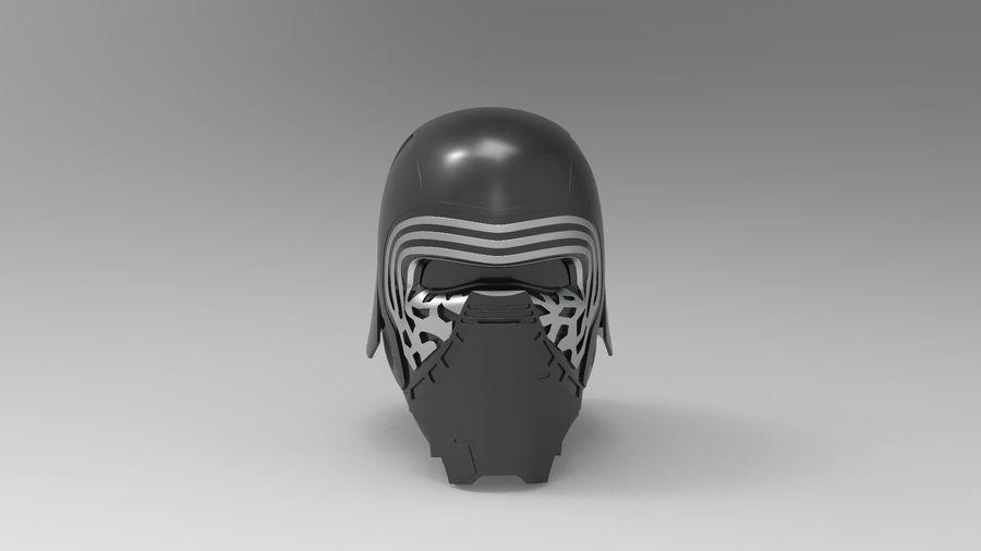Nurbs Kylo Ren Helmet 3D model royalty-free 3d model - Preview no. 1