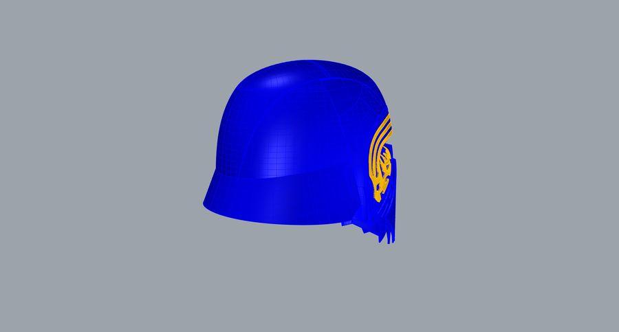 Nurbs Kylo Ren Helmet 3D model royalty-free 3d model - Preview no. 11