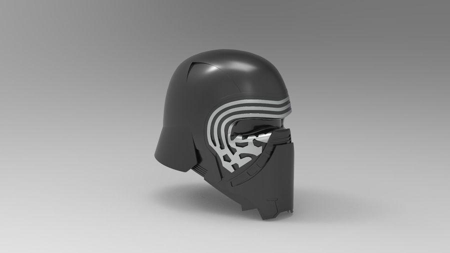 Nurbs Kylo Ren Helmet 3D model royalty-free 3d model - Preview no. 9
