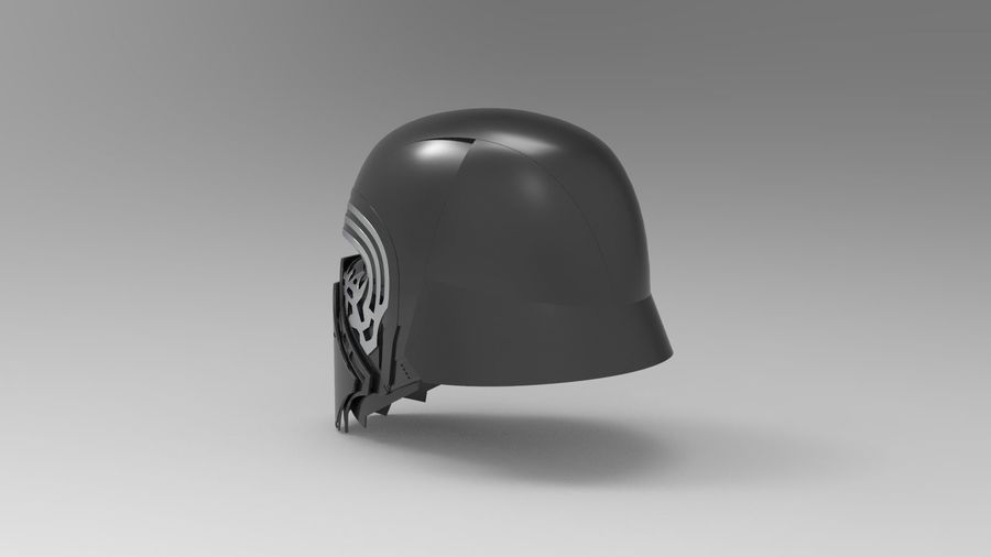 Nurbs Kylo Ren Helmet 3D model royalty-free 3d model - Preview no. 4