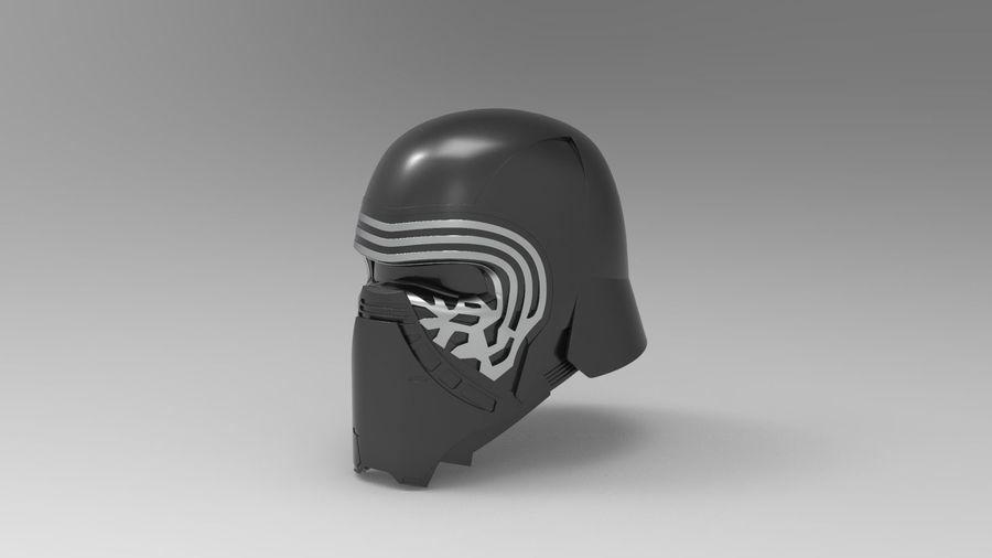 Nurbs Kylo Ren Helmet 3D model royalty-free 3d model - Preview no. 2