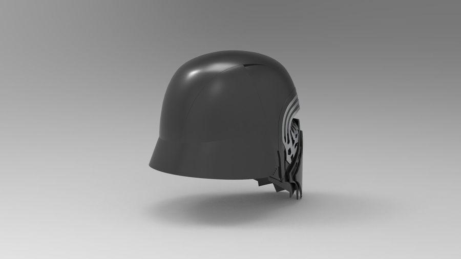Nurbs Kylo Ren Helmet 3D model royalty-free 3d model - Preview no. 7