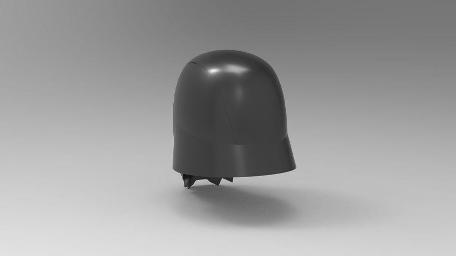 Nurbs Kylo Ren Helmet 3D model royalty-free 3d model - Preview no. 5