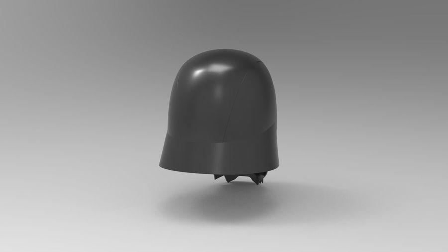 Nurbs Kylo Ren Helmet 3D model royalty-free 3d model - Preview no. 6