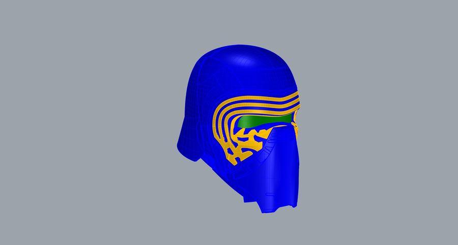 Nurbs Kylo Ren Helmet 3D model royalty-free 3d model - Preview no. 10