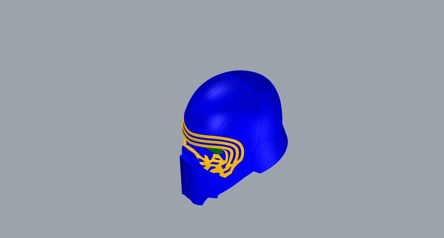 Nurbs Kylo Ren Helmet 3D model royalty-free 3d model - Preview no. 14